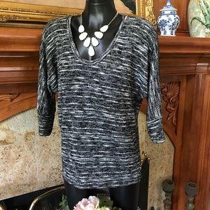 Black & White Splendid Sweater Knit Top